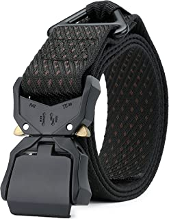 DEYACE Tactical Belt, 1.5 inches Military Style Heavy Duty Nylon Belt with V-Ring Non-Slip Quick-Release Buckle