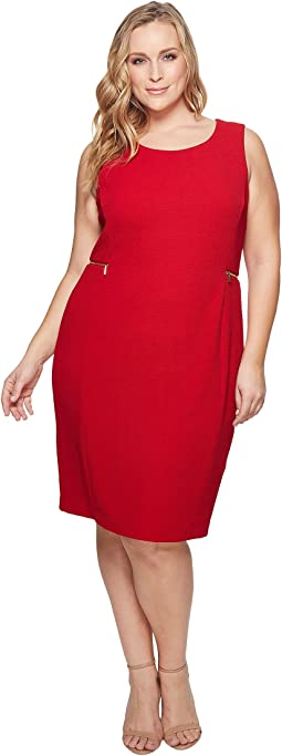 Plus Size Dash Jacquard Sheath Dress