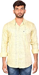 Flying Figure Male Plain Slim Fit Casual Shirt