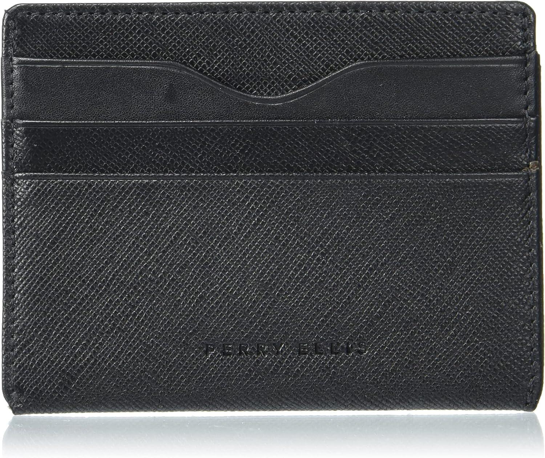 Perry Ellis Men's Portfolio Card Case Id Wallet, Blk, One Size