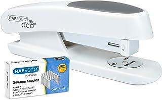 Rapesco ECO Sting Ray - grapadora de media carga, mas una caja de 1000 grapas 24/6mm, blanco mate
