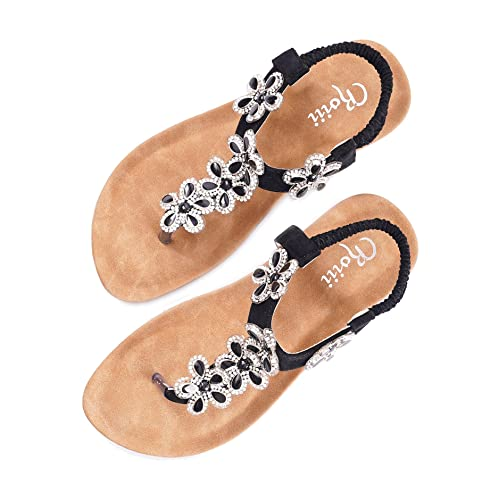 811c13155 Roiii Womens Ladies Diamante Jelly Sandals Summer Beach FLIP Flops Toe Post  Shoes Size