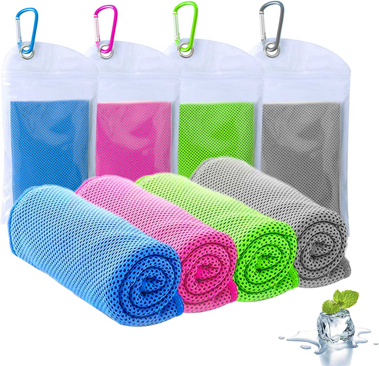 ICECUUL Quick Dry Cooling Max 86% OFF Towel 4 Recommended Microfiber 44x15 Packs