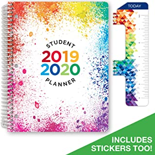 Dated Elementary Student Planner for Academic Year 2019-2020 (Block Style - 8.5