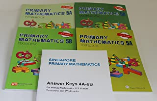 Singapore Primary Mathematics Level 5 KIT + Answer Booklet (US Edition)--Textbooks 5A and 5B, Workbooks 5A and 5B and Answer Key Booklet