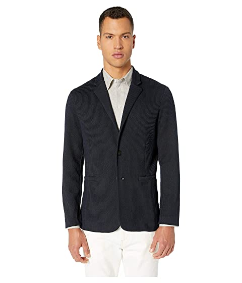 Emporio Armani Blended Stretch Jersey Soft Jacket