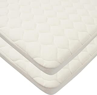 TL Care Twin Pack Waterproof Quilted Bassinet Size Fitted Mattress Cover Made with Organic Cotton, Natural Color