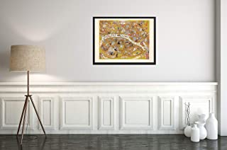 1930 Pictorial Map of Paris, France   Rare Vintage map by Arthur Zaidenberg   18x24 Ready to Frame
