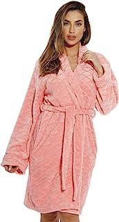 Just Love Kimono Robe Velour Scalloped Texture Bath Robes for Women