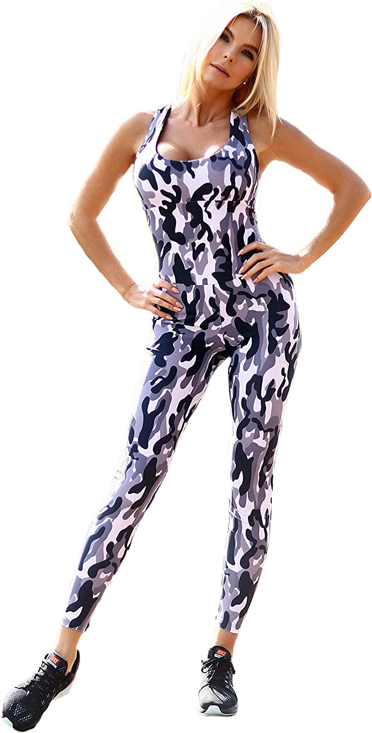 Max 72% OFF Designed for Fitness Max 63% OFF Camo Grey Workout Leggi Jumpsuits Women