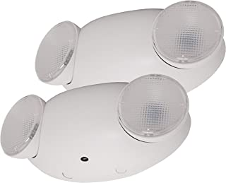 LFI Lights - 2 Pack - UL Certified - Hardwired LED Emergency Light - Compact - Fire Safety Emergency Light - ELCELMWx2