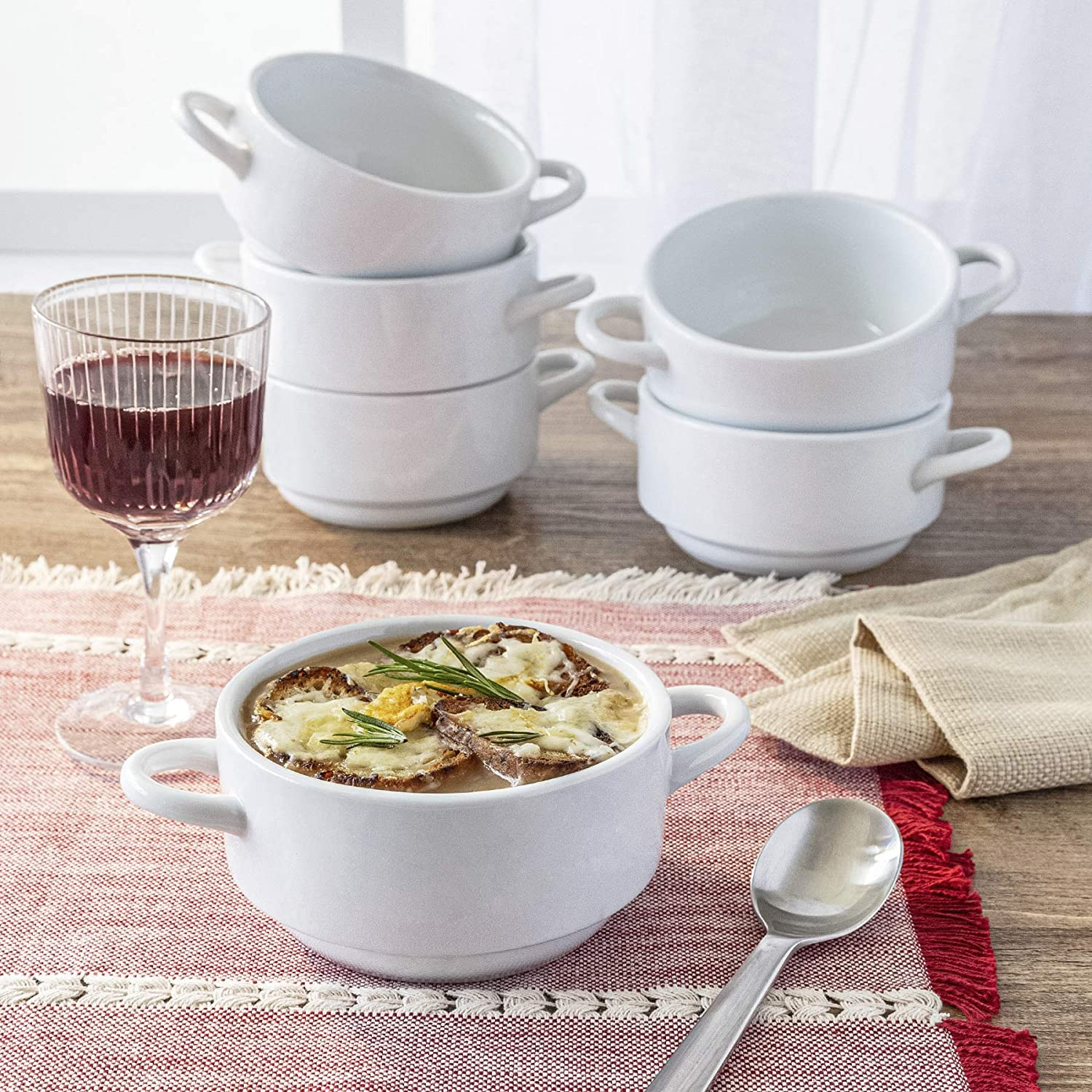 JN Porcelain メーカー直送 French Onion 70%OFFアウトレット Soup Set 6. Bowls of -