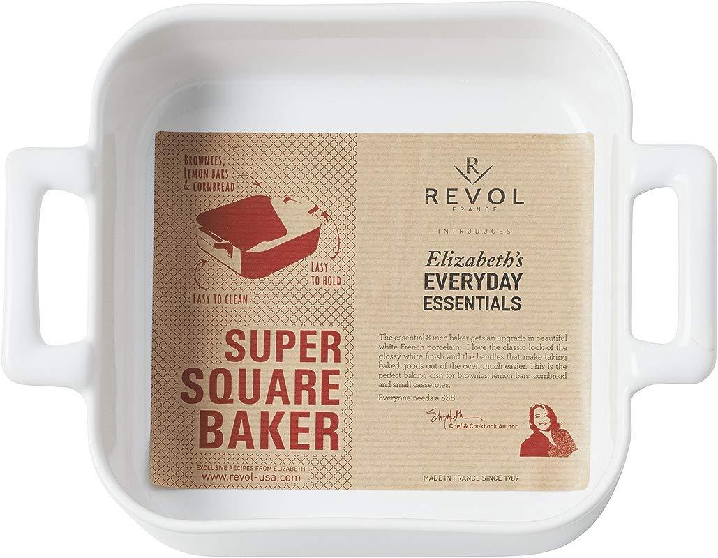 Revol White Porcelain Square Baking Belle Cuisine Elizabeth S Everyday Essentials
