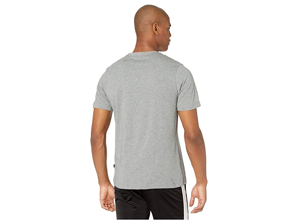 PUMA ESS Logo Tee (Medium Grey Heather) Men's T Shirt, Gray