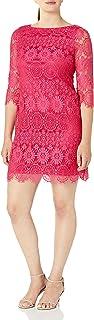 Jessica Howard womens 3/4 Sleeve Shift Dress Casual Dress