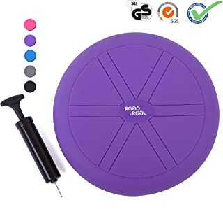 RGGD&RGGL Wobble Cushion for Workout and Therapy,Support 442 lbs,(13&14inch) Extra Thick Balance Disc with Pump,Kids Wiggle Seat,Sensory Cushion for Classroom&Office&Home