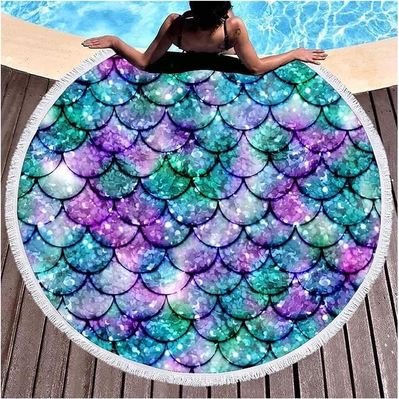 Ranking TOP6 rouroumaoyi Microfiber Beach Towel Round Abstract Printed Ranking TOP9
