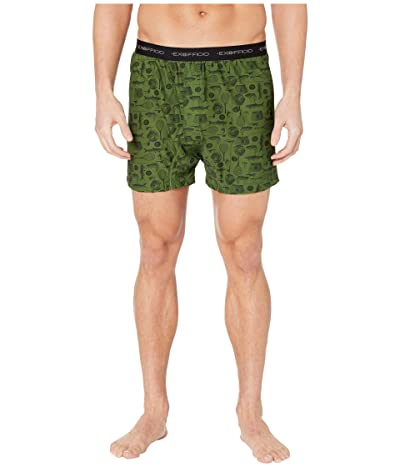 ExOfficio Give-N-Go(r) Printed Boxer (Alpine Green Fly Fishing) Men