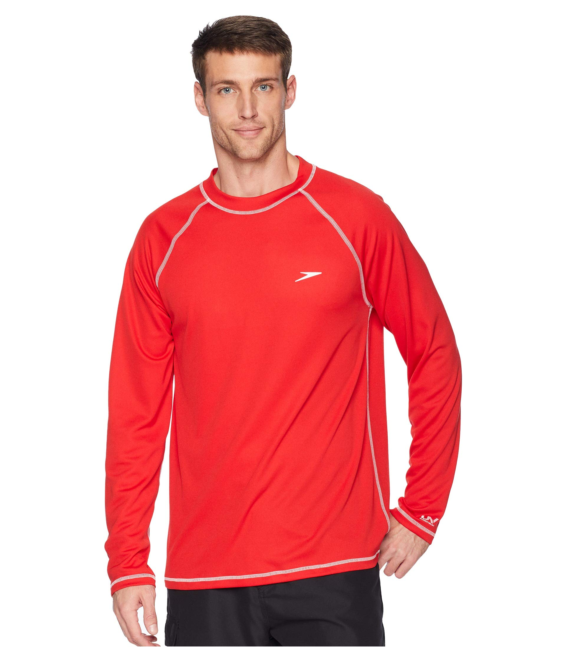 Speedo L Tee Red Easy s Swim HHxqrFB