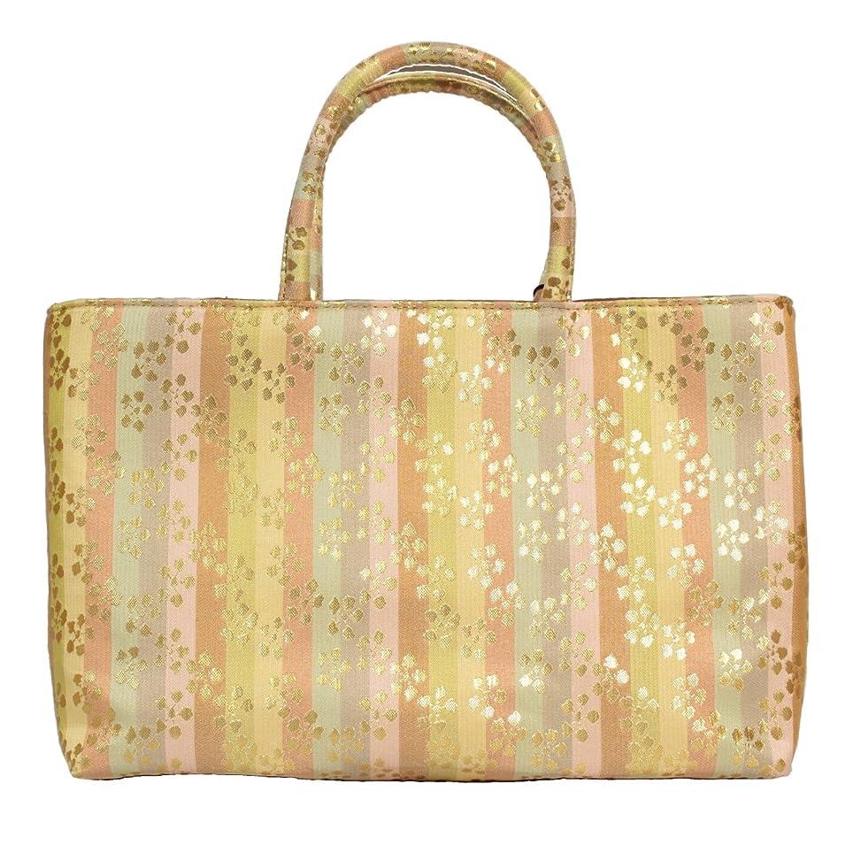 期待してレンジ白菜名物裂 金襴 02 和装 和柄 着物 (きもの/キモノ) 用 フォーマル (礼装) バッグ かばん 日本製生地 | A4 OK |