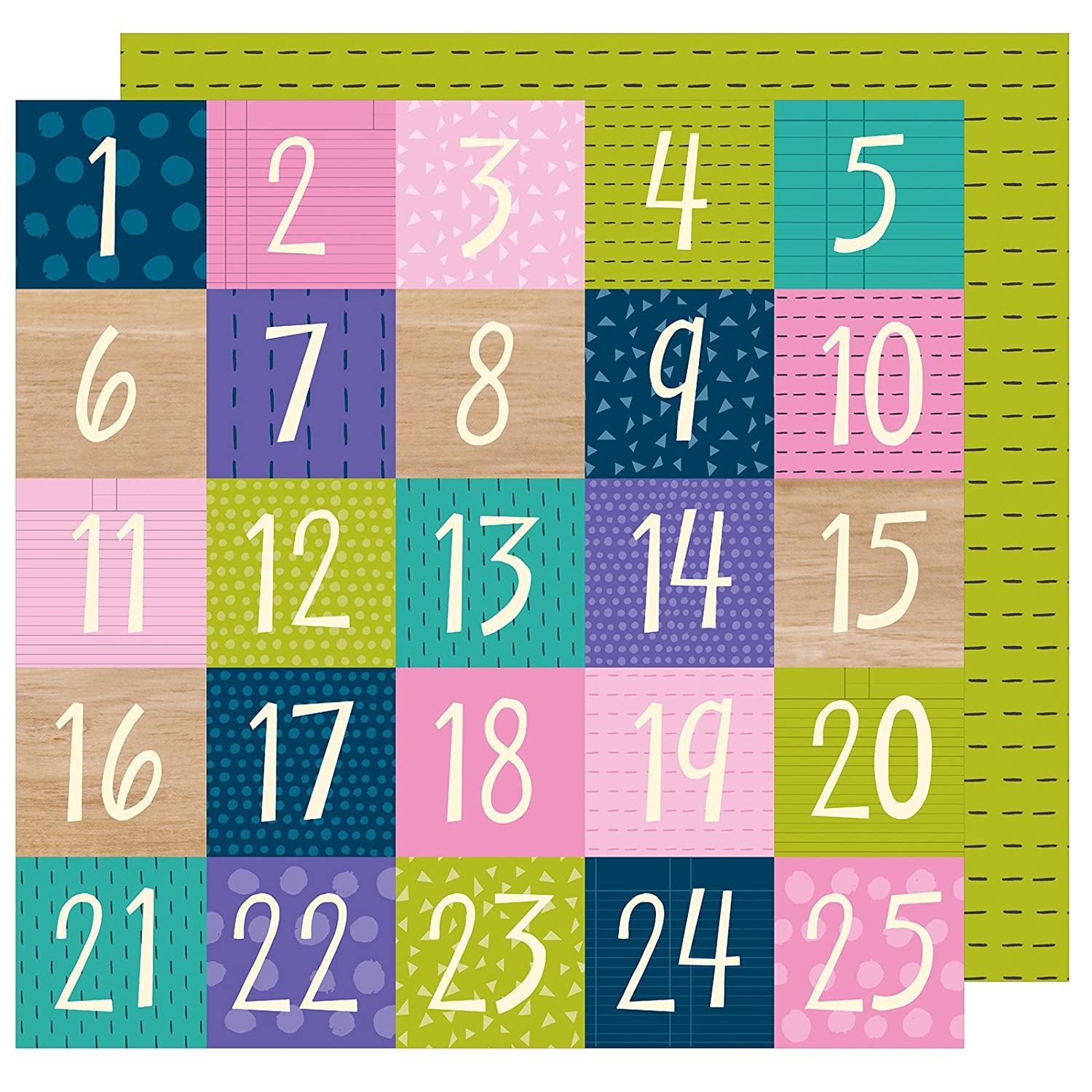 Shimelle 346597 Box of Crayons Countdown Paper (25 Pack), 12