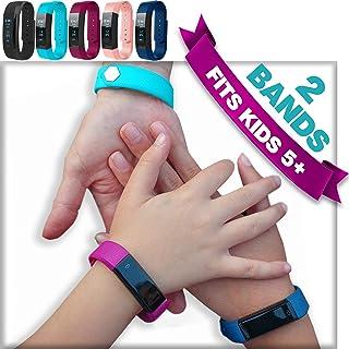 Kids Fitness Tracker Activity Tracker for Kids - Waterproof Smart Watch for Girls Boys Teens Youth Digital Watch Alarm Pedometer Sleep Activity Step Counter Back to School Gift - 2 Bands Aqua Set