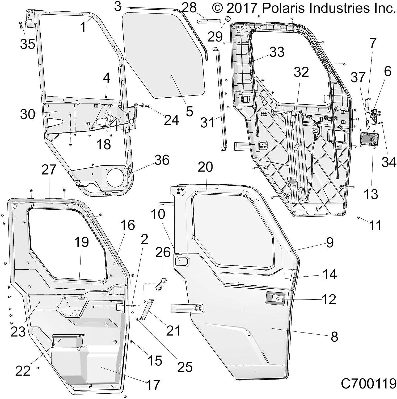 Polaris Regulator Hardware Kit Right Genuine Direct stock discount 2207711 Free shipping / New OEM Part
