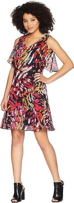 Fit & Flare Cold Shoulder Dress