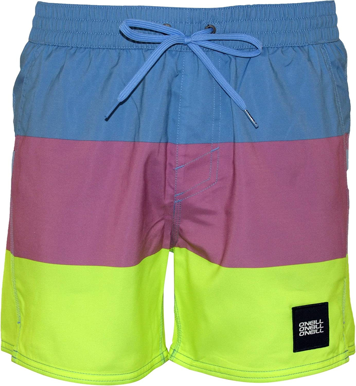 O'NEILL Vert Horizon Block Stripes Men's Swim Shorts, Blue/Pink