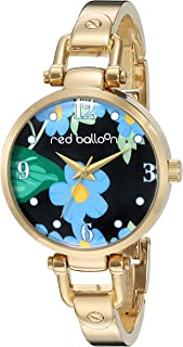 Red Balloon Women's ' Quartz Metal and Alloy Casual Watch, Color:Gold-Toned (Model: W002667)