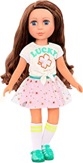 Glitter Girls Dolls by Battat – My Lucky Star Fashion Outfit (Green & Pink) – 14-inch Doll Clothes and Accessories for Kid...