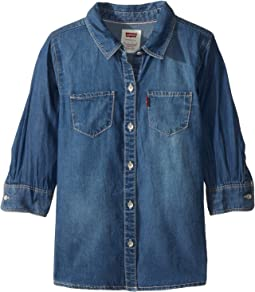 Western Denim Top (Little Kids)