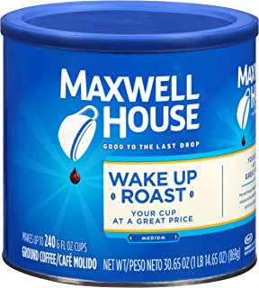 Maxwell House Wake Up Blend Mild Roast Ground Coffee (30.65 oz Tin)