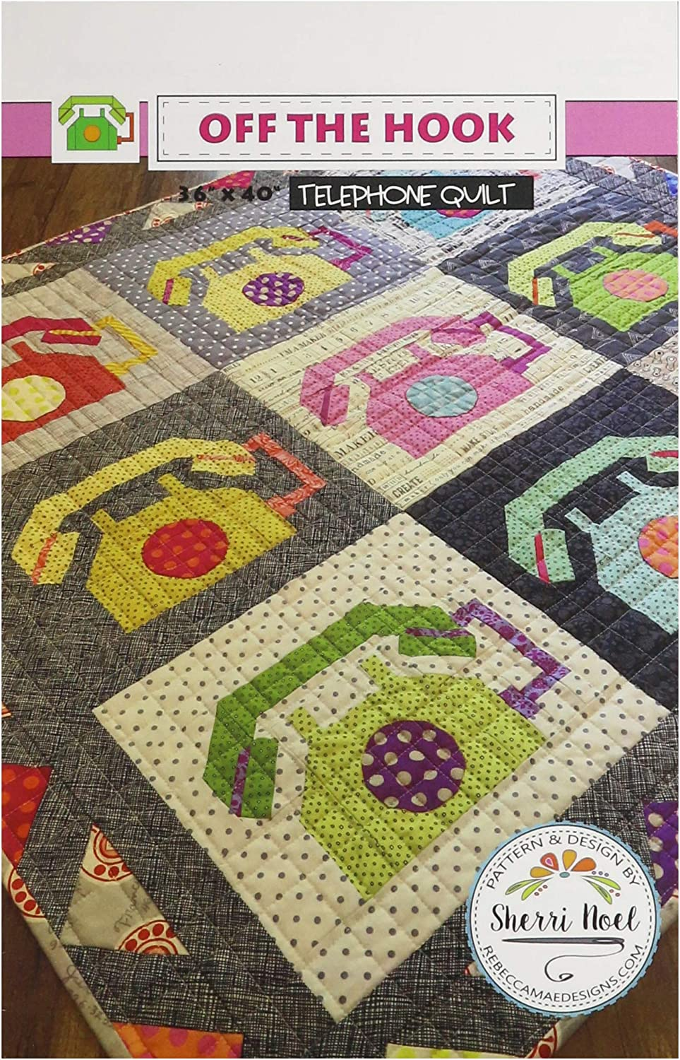 Rebecca Mae Designs Cheap super special price Off The Pattern Hook Outlet sale feature None Quilt Telephone