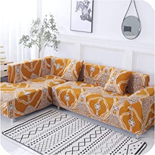 2 Pcs Covers for Corner Sofa Elastic Cover Sofa for Living Room Chaise Longue Couch Slipcover L Shaped Sofa Cover Stretch,1,Pillowcase x 2