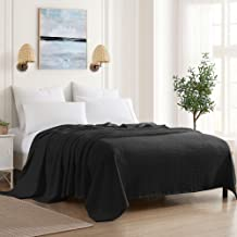 Sweet Home Collection 100% Fine Cotton Blanket Luxurious Basket Weave Stylish Design Soft and Comfortable All Season Warmt...