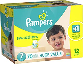 Branded Pampers Swaddlers Diapers, Size 7, 70 Diapers , Weight 41lbs - Branded Diapers with fast delivery (Soft and Comfortable for Babies)