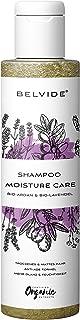 BELVIDE Feuchtigkeits Shampoo mit Bio Arganöl und Bio Lavendel  ohne Silikon, Sulfate und Parabene  natürlicher Glanz und Geschmeidigkeit  tierversuchsfrei und vegan  200 ml