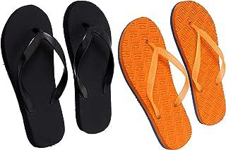 Black And Orange Combo Women's House Slippers
