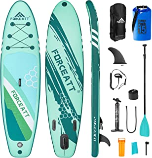"""Forceatt Inflatable Stand Up Paddle Boards, 10'2""""(L) x30(W) x6(T) Paddle Boards, SUP for All Skill Levels Include Beginne..."""