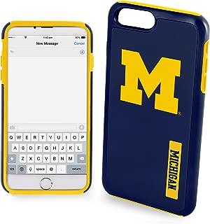 Michigan Wolverines Impact TPU 2-Piece Dual Hybrid Case Compatible with iPhone 8 PLUS / iPhone 7 PLUS / iPhone 6 PLUS / 6s PLUS - 5.5