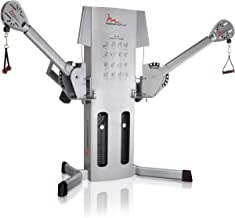 FreeMotion Dual Cable EXT Crossover with Weight Stacks, Rotating Arms, Ankle Cuffs, and Swivel Pulleys
