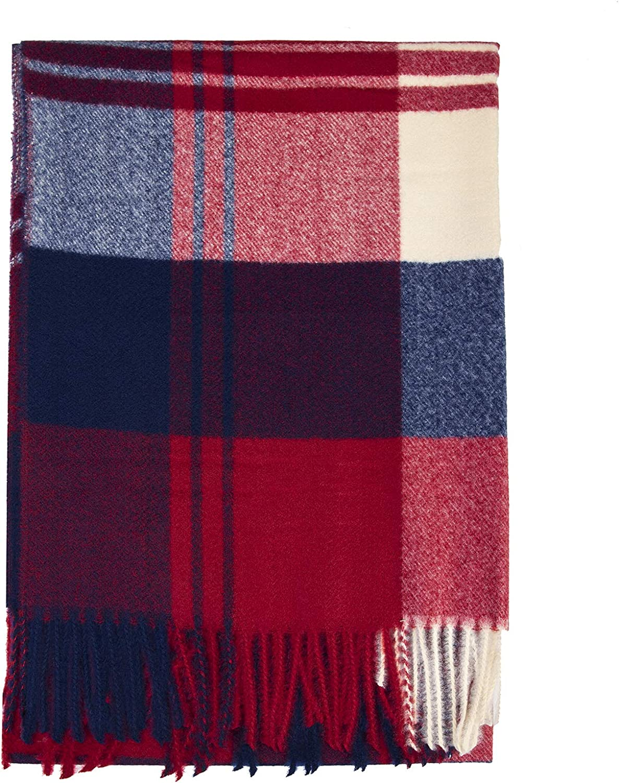 ZOMFUSK Winter Women Plaid Scarf Soft Extra Large Thick Warm Lightweight Wool Shawl Wraps for Women