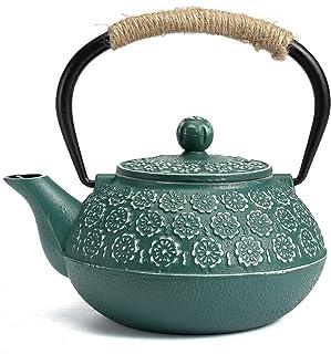 Cast Iron Teapot, Sotya Tetsubin Japanese Tea Kettle (900ML, dark green)