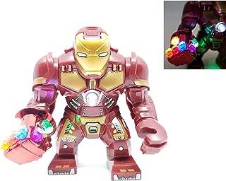 BlingBlingBrick – Big Size Iron Man Figure with LED Nano Gauntlet – Marvel