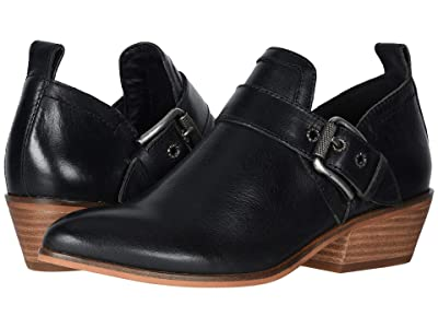 FRYE AND CO. Rubie Moto Slip-On (Black Vintage Pull Up Leather) Women