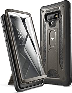 YOUMAKER Kickstand Case for Galaxy Note 9, Full Body with Built-in Screen Protector Heavy Duty Protection Shockproof Rugged Cover for Samsung Galaxy Note 9 (2018) 6.4 Inch - Gun Metal/Black