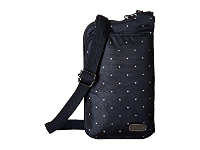 Pacsafe Daysafe Anti-Theft Tech Crossbody Bag (Navy Polka Dot) Cross Body Handbags