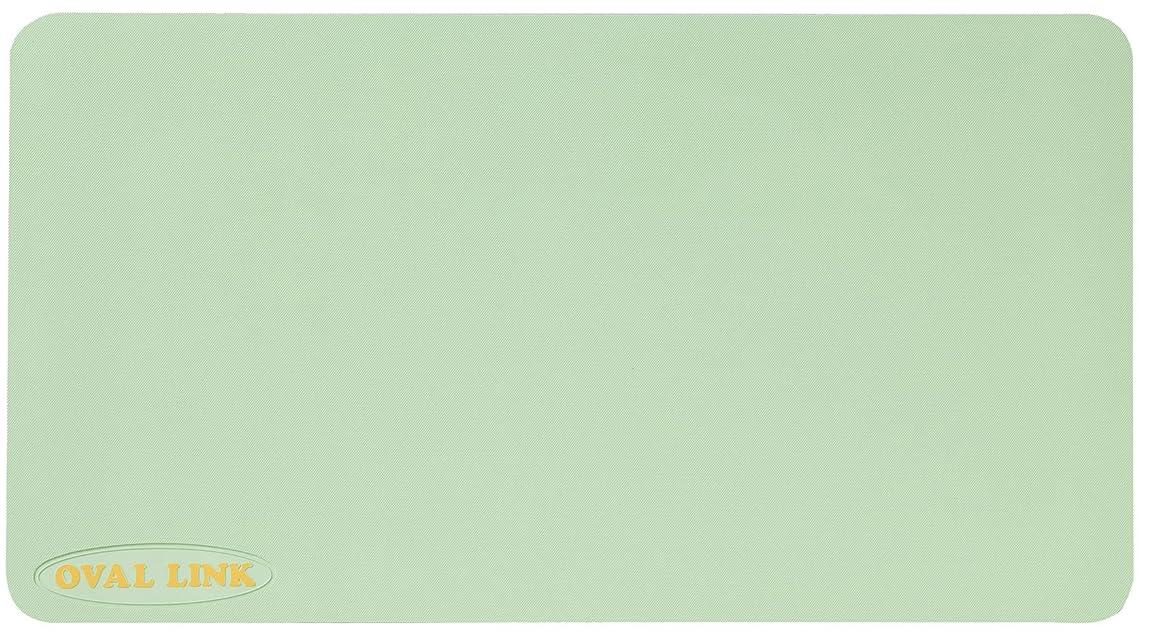 負担侵略精巧な弘進ゴム オーバルリンク Lサイズ(38×70cm) ライトグリーン すべり止めマット 浴槽内?洗い場兼用