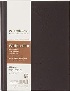 """Strathmore (467-8) STR-467-8 48 Sheet No 140 Watercolor Art Journal, 8.5 by 11"""", 8.5""""x11"""", White, 24"""
